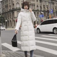 的冬季女士中长款保暖棉衣外套显瘦收腰超长过膝羽绒服女