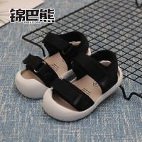 夏季男女儿童学步鞋1-2-3岁宝宝凉鞋软底鞋婴儿包头凉鞋