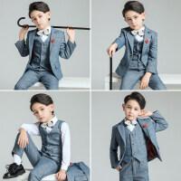 儿童西装套装男童花童礼服小西服男孩钢琴演出帅气英伦婚礼秋
