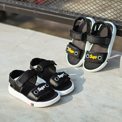 夏季韩版男孩儿童沙滩鞋男童凉鞋2019新款中大童儿童软底鞋
