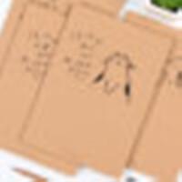 初品PNKA4-3456科目纽扣袋地理A4创意文具文件袋资料袋档案袋子韩式风格大中小学生幼儿园男女孩学习办公开学科目分