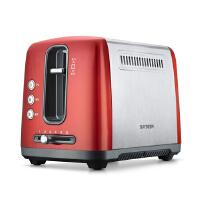 北鼎 BUYDEEM D612新款不锈钢多士炉 家用烤面包机早餐机 彩色系列2槽2片锦葵红