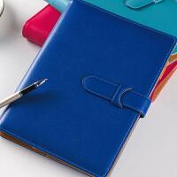 得力笔记本文具皮商务记事本大号本子加厚办公硬皮面日记本工作用学生用