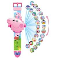 玩具手表狗狗队电子表佩奇玩具 儿童卡通24图3D投影手表