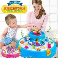 儿童电动钓鱼玩具池套装1-3岁宝宝玩具磁性鱼小猫钓鱼男婴