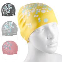 儿童印花硅胶游泳帽男女大号通用防水护耳