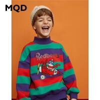 【折后券后�A估�r:144】MQD童�b男童19冬新款套�^潮酷保暖�l衣中大童加�q�n版外套加厚潮
