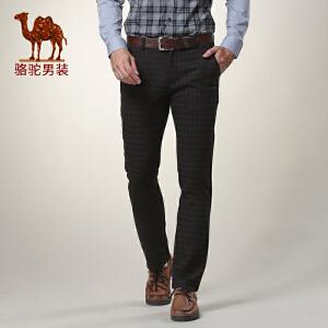 骆驼男装 春款水洗时尚休闲裤 男士直筒修身休闲长裤
