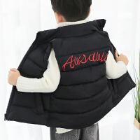 男童装棉衣小男孩子背心中大童棉袄绣花冬季外穿马甲女童坎肩