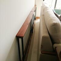 客厅沙发后置物架靠墙落地实木床头收纳书架子柜定制玄关架长条架情人节礼物 100*10*65木板厚2cm
