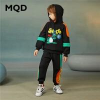 MQD童装男童套装连帽2020冬季新款连帽儿童加厚保暖运动两件套潮