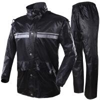 龙豹 LB199 色丁面料 电动摩托车雨衣分体式雨裤套装 时尚雨披双层加厚双面穿