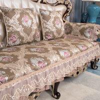 欧式沙发垫123组合防滑四季通用真皮沙发套坐垫蓝色灰色