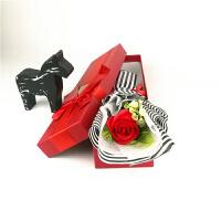 单支仿真礼盒装假玫瑰花向日葵单只一朵肥皂香皂花束情人节小礼物情人节礼物