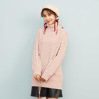 【2件3折到手价:59.7】美特斯邦威毛衣裙女甜美冬装新款雪尼尔高领长毛衫韩版潮流