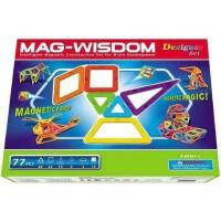 科博MAG-WISDOM磁力片77件 智慧磁力益智建构磁片 宝宝积木智力拼装