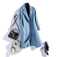 反季双面呢大衣中长款毛呢外套女秋新款韩版翻领无羊绒混纺大衣女