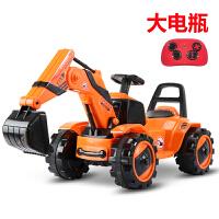 挖掘机可坐可骑3-6岁儿童电动挖土机玩具车可坐大号工程车男孩宝宝滑行遥控钩机 +遥控器 官方标配