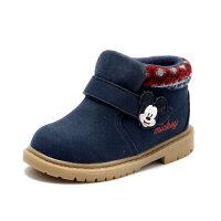 Daphne/达芙妮鞋柜童鞋 冬新款加绒休闲卡通短靴男童