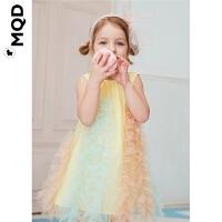 【2件3折:150】MQD童装女小童纱裙2020夏装新款多色拼接百褶裙儿童连衣裙洋气