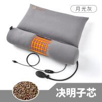 荞麦决明子糖果颈椎枕头修复专用枕芯病人护颈枕圆硬枕头 +充气+智能热敷