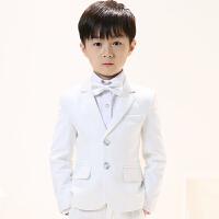 儿童西装套装三件套小花童礼服男孩演出服中大童外套男童春秋
