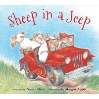 【预订】Sheep in a Jeep (board book)