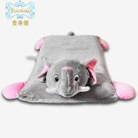 泰国进口乳胶枕儿童卡通动物护颈定型枕毛绒玩具宝宝橡胶午睡趴枕