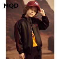 MQD童装男童19秋冬新款立领宽松加厚保暖卫衣儿童加绒韩版外套潮