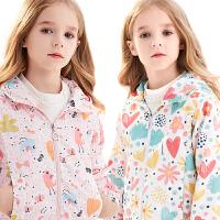 女童外套儿童冲锋衣加绒保暖秋冬装小女孩大童防风衣