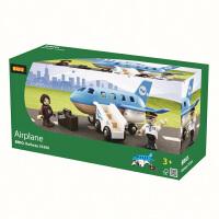 [当当自营]BRIO 蓝色飞机 儿童益智拼插木制轨道小火车玩具 BR33306