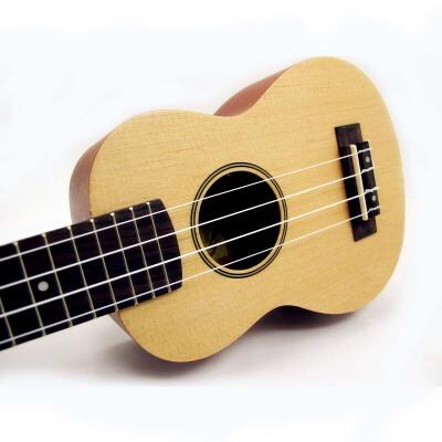 (货到付款)Rockman 21寸专业小吉他 ukulele 初学尤克里里  入门乌克丽丽  成人夏威夷小四弦小吉他云衫木  面板 干净 颜色比较讨喜 沙比利背侧板  RU-21-W   送(尤克里里琴套 + 3个拨片+ 教程一本)尤克里里 小吉他(总长度55CM )