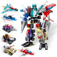 积木变形玩具金刚益智拼装机器人儿童智力男孩