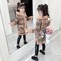 女孩加厚大童长款毛呢大衣童装2019秋冬季新款韩版洋气女童外套