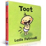 顺丰发货 Toot 幼儿启蒙认知英文原版纸板书绘本 Leslie Patricelli 亲子读物 0-3岁