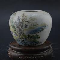 山水纹水罐 古董古玩仿古瓷器 旧货收藏做旧陶器 古典装饰品摆件 默认款式