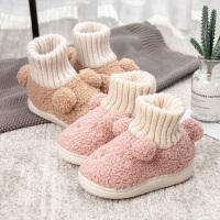 棉拖鞋儿童冬季保暖女男冬天童卡通棉鞋1-3岁2可爱室内宝宝拖鞋冬