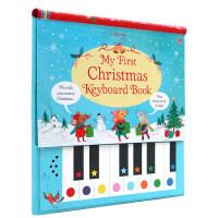 英文原版绘本 My First Christmas Keyboard Book 儿童音乐互动书圣诞曲 圣诞节礼物 钢琴