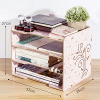木制桌面收纳盒书架置物架创意办公用品储物整理架资料文件架多层