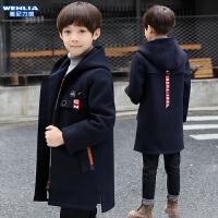 2019新款韩版儿童妮子洋气中大童呢子外套男童秋冬装加厚毛呢大衣