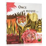 顺丰包邮 Once a Mouse 从前有一只老鼠 凯迪克金奖绘本 Marcia Brown经典英文原版图画书 美国图
