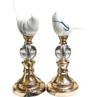 【新品优选】美式客厅水晶陶瓷鸟装饰品摆件现代创意家居书房办公室工艺品摆设