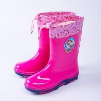 �和�雨鞋男童女童中筒防滑加�q保暖卡通水鞋小孩�W生����雨靴�z鞋