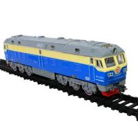 儿童仿真火车模型玩具轨道小火车绿皮火车东风4D乌克兰火车模型