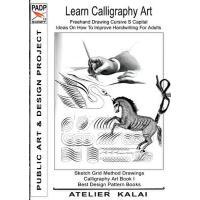【预订】Padp Script 11: Learn Calligraphy Art - FreeHand Drawin