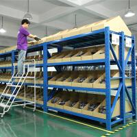 易存金属五金仓库库房仓储中型重型货架 家用置物架展示架250kg