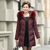 冬季新款中年妈妈装羽绒服中长款加厚大码中老年人女装50棉衣外套