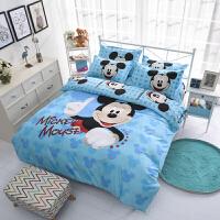 米奇老鼠卡通儿童床单被套1.5米 双人床四件套2米床笠三件套1.2m-yn定制