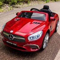 奔驰儿童电动车四轮带遥控汽车可摇摆童车宝宝玩具车可坐人2153zf10 烤漆红 所有功能