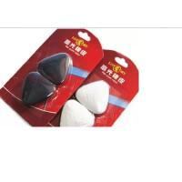 好吉森鹤/北京线上50元包邮/老人头高光橡皮 美术素描橡皮 黑白橡皮 2块套装三角橡皮檫/绘图用橡皮---------2卡4块颜色随机+送品606